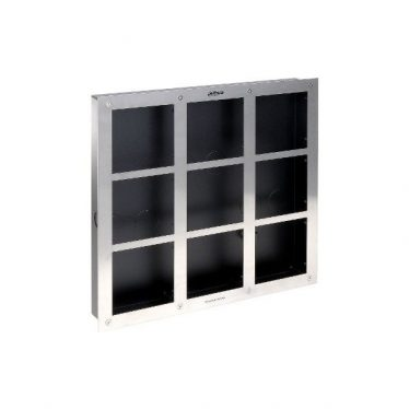 Dahua előlapi panel + süllyesztődoboz - VTOF009-VTOB115 (moduláris IP video kaputelefonhoz, 9 férőhelyes)