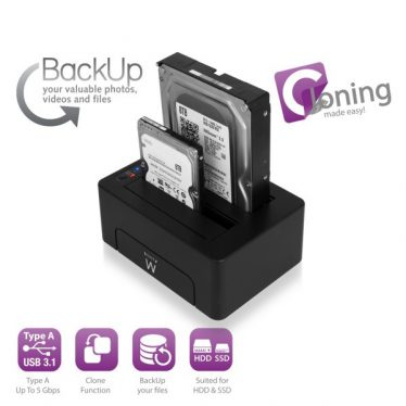 Ewent USB3.1 Dual Dockingstation