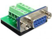 DeLock Adapter Sub-D 9 pin female > Terminal block 10 pin