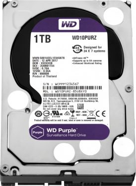 Western Digital 1TB 5400rpm SATA-600 64MB Purple WD10PURZ