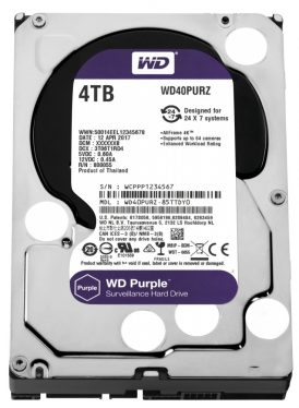 Western Digital 4TB 5400rpm SATA-600 64MB Purple WD40PURZ
