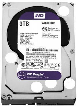 Western Digital 3TB 5400rpm SATA-600 64MB Purple WD30PURZ