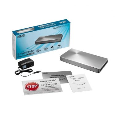 Asus XG-U2008 Unmanaged/Plug-and-play 2-port 10G and 8-port Gigabit Switch