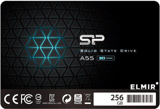 """Silicon Power 256GB 2,5"""" SATA3 A55 Series SP256GBSS3A55S25"""