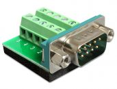 DeLock Sub-D 9 pin male > Terminal Block 10 pin Adapter