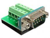 DeLock Sub-D 9 pin male > Terminal Block 10 pin Adapter