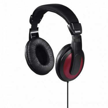 Hama Basic4Music On-Ear Stereo Headphones Black/Red