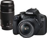 Canon EOS 2000D + 18-55 IS II + 75-300 DC III Black Kit
