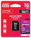Good Ram 16GB microSDHC Class 10 UHS-I + adapterrel