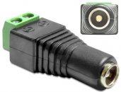 DeLock Adapter DC 5.5 x 2.5mm female > Terminal Block 2pin