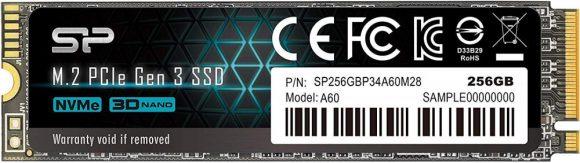 Silicon Power 256GB M.2 2280 NVMe P34A60