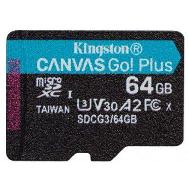 Kingston 64GB microSDXC Canvas Go! Plus 170R A2 U3 V30 Card adapter nélkül