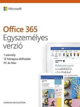 Microsoft Office 365 Personal 1 Felhasználó 1 Év HUN BOX