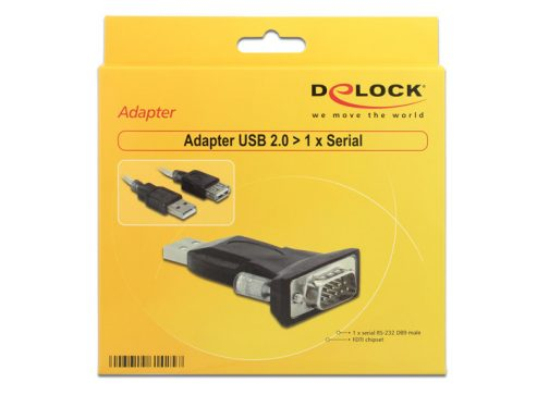 DeLock Adapter USB 2.0 > 1 x Serial