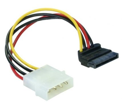 DeLock Cable Power SATA HDD > 4pin male – angled