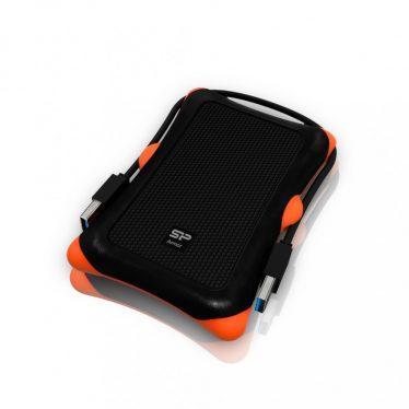 """Silicon Power Armor A30 1TB 2,5"""" USB 3.0 Black/Orange SP010TBPHDA30S3K"""