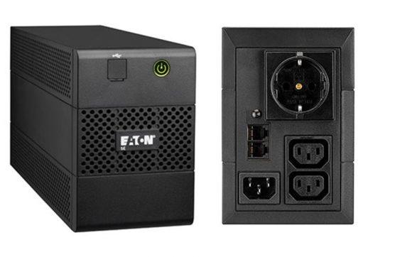 EATON 5E 650i USB DIN vonali-interaktív 1:1 UPS 650VA