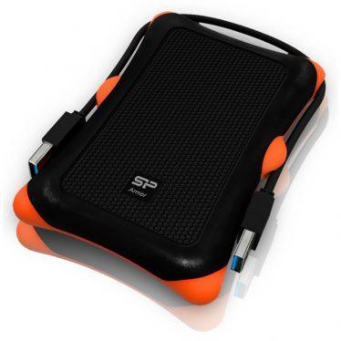 """Silicon Power Armor A30 2TB 2,5"""" USB 3.0 Black/Orange SP020TBPHDA30S3K"""