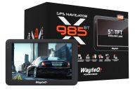 """Wayteq x985BT HD GPS 5"""" 8GB Bluetooth Igo kompatibilis térkép nélkül"""