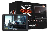 """Wayteq x985BT 5"""" 8GB Bluetooth Térkép Nélkül"""