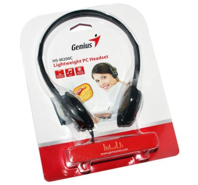 Genius HS-M200C Headset Black
