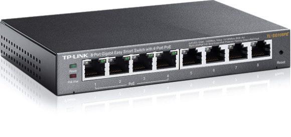 TP-Link TL-SG108PE 8-Port Gigabit Easy Smart Switch with 4-Port PoE