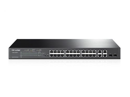 TP-Link T1500-28PCT (TL-SL2428P) 24-Port 10/100Mbps + 4-Port Gigabit Smart PoE+ Switch