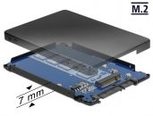 "DeLock 2,5"" SATA to M.2 NGFF with Enclosure"