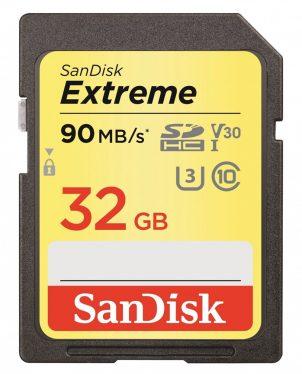 Sandisk 32GB SDHC Extreme U3 Class10 V30